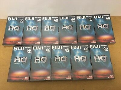 11 X Fujifilm HQ + Blank VHS Video Cassette Tapes Blank Media NEW AND SEALED