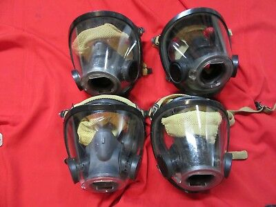 SCOTT AV-3000 MASK medium w/ Nose Cup SCBA Air Pak Firefighter used condition