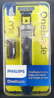 Philips Oneblade + 3 Stubble Combs One Blade To Trim Edge And Shave