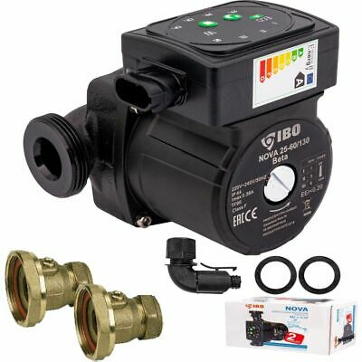 Central Heating Circulator Pump Omis 60-130 For Hot Water Heating System +Valves