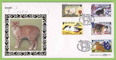 Isle of Man 1996 Cats set on Benham First Day Cover