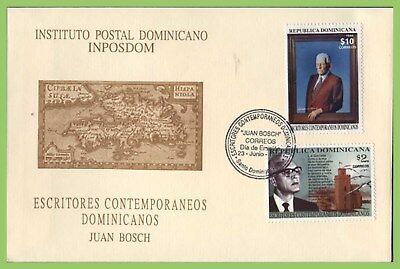 Dominican Republic 1999 Contemporary Writers set on First Day Cover