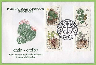 Dominican Republic 1995 Medicinal Plants set on First Day Cover