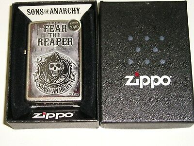 Zippo Lighter-28502 Soa Fear The Reaper  Original Brand New In Box