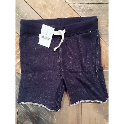 Modern Baby Crewcuts J.Crew 2T Toddler Shorts Navy French Terry Raw Edge Beach