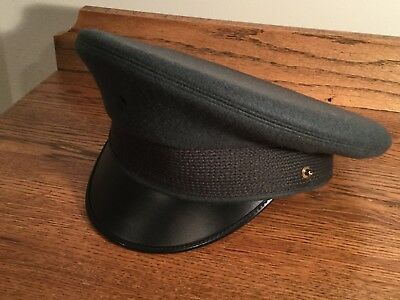 Vintage Kingform Cap De Luxe Green Army Military Hat NEVER USED 7 1/4 FLAWLESS