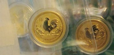 2017 Australian-P Gold 1/10 oz.9999 Gold Year of the Rooster $15 Lunar Gold Coin