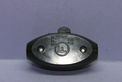 Vintage CIRCLE F Bakelite Inline In-line Cord On / Off Snap Switch - 10A @125V