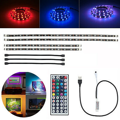4 x 12V Car Interior Atmosphere Footwell RGB Color 9 LED Strip Light Decor Lamp