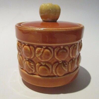 Vintage Ceramic Made in Japan Peach Bowl with Fruit Lid Measures approx 10cm