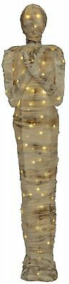 Home Accents Holiday 120-Light 66 in. LED Burlap Mummy