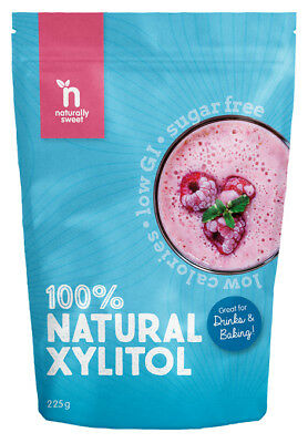 Naturally Sweet Xylitol 225g Pouch - Pharmaceutical Grade, Non-GMO, Great Taste