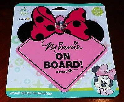 New Disney Baby MINNIE MOUSE Minnie on Board Safety 1st Car Sign