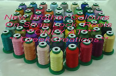 10 Brother Colors Of Your Choice - Disney Machine Embroidery Thread 10 X 1000M