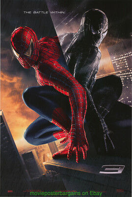 SPIDERMAN 3 MOVIE POSTER DS 27x40 GLOSSY VERSION + THE LORD OF THE RINGS BONUS
