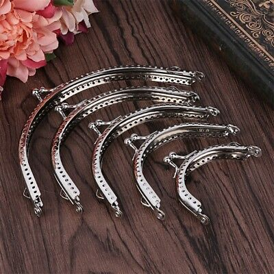 DIY Silver Metal Arch Purse Bag Frame Kiss Clasp Lock Clip Crafts Bags Making