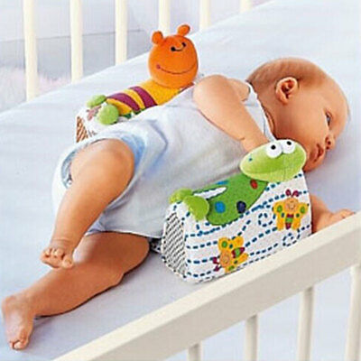 Baby Sleep Positioner Side Pillow Animal Print Anti Roll Infant Toddler Cushion