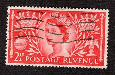 Great Britain Coronation 1953 2 1/2d SG532 FINE USED R39213