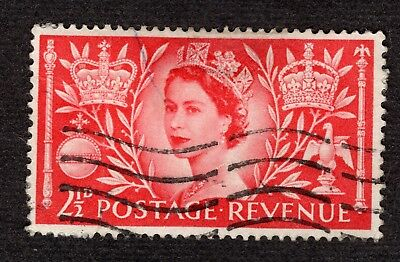 Great Britain Coronation 1953 2 1/2d SG532 GOOD USED R39216