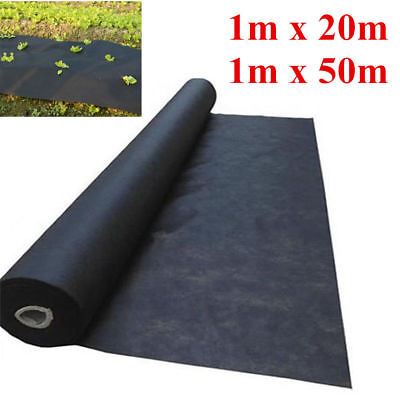 50G 1M Wide Weed Control Fabric Ground Cover Membrane Landscape Mulch Garden