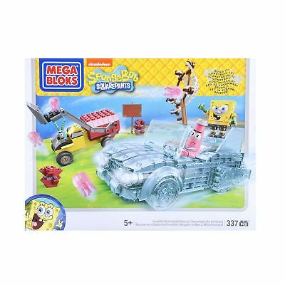 Mega Bloks Spongebob Squarepants Invisible Boatmobile Rescue Toy Set Age 5+