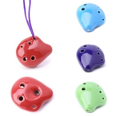 Professional Rythem 6 Hole Alto A C Ceramic Ocarina Instrument Collectible Hot