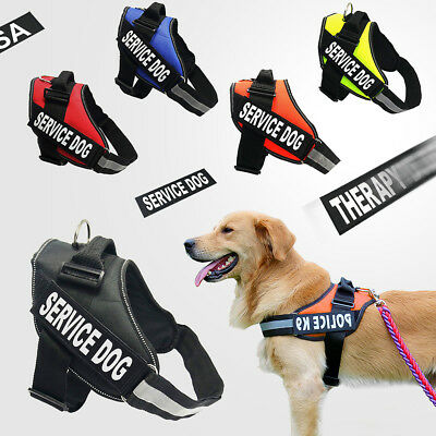 No-pull Dog Pet Harness Reflective Outdoor Training Pet Vest Padded Handle 3M AU