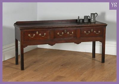 Antique Georgian Shropshire / Cheshire Joined Low Dresser Base Sideboard C.1770