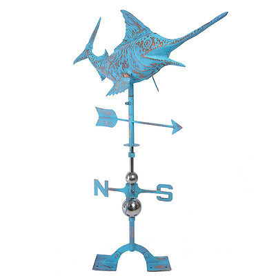 NEW Sword Fish  Copper Weather VanePatinated Finish Real Handcrafted Weathervane