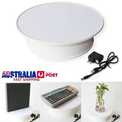 20CM 15KG Loading Electric 360° Motorized Rotating Display Stand Turntable WHITE