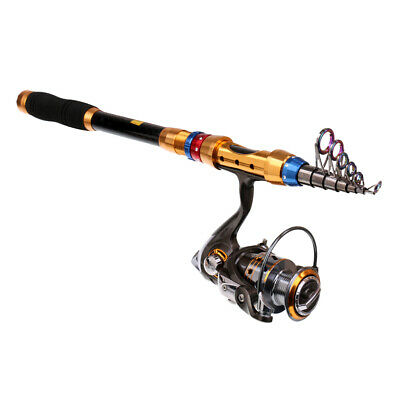 Fishing Rod and Spinning Reel Combo Portable Telescopic Fishing Rod Reel Set