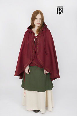 Medieval Coat Cape Wool LARP - Red