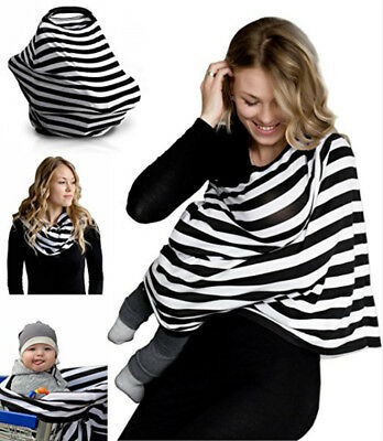 Hot 5in1 Mum Breastfeeding Nursing Apron Cover Up Baby Seat Stroller Cover Shawl