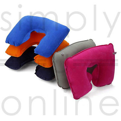 Inflatable Travel Neck & Head Pillow Flight Rest Support Cushion