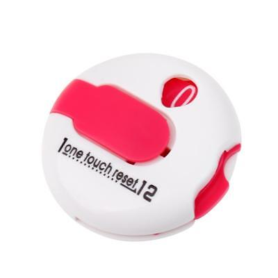 White Pink Golf One Touch Reset Score Counter - Attach to Glove
