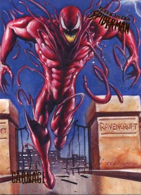 Spiderman Fleer Ultra 2017 Base Card #41 Carnage