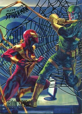 Spiderman Fleer Ultra 2017 Silver Parallel Base Card #85 Iron Spider