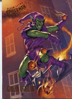 Spiderman Fleer Ultra 2017 Base Card #96 Green Goblin