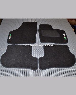 Skoda Octavia 2nd Gen Luxury Fitted Car Mats VRS embroidered logos
