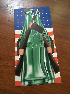 Coca Cola 1940s WW2 Soldier Bottles At War Flyer Brochure Paper Extremely Rare!