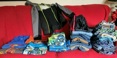 lot of 40 mixed boys clothing size 8  jeans & shorts ,shirts ,pajamas ,hoodie.