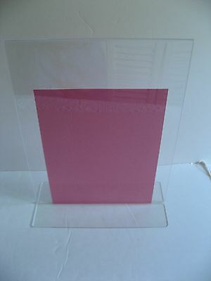 "11"" x 14"" Acrylic Clear Upright Table Sign Card Display Menu Portrait Holder"