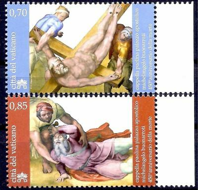 Vatican 2014 Michelangelo Paintings Art St. Peter Crucifixion/St.Paul 2v MNH/1