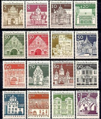 Germany B 1966 Castles City hall Town Cathedral Church Hospital Buildings MNH