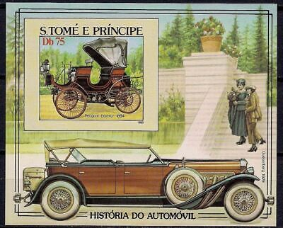Sao Tome 1983 Vintage Cars Peugeot Daimler Automobile History Imperf  m/s MNH