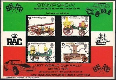 GB 1974 Fire Engines Emergency Old Vehicles Motoring Transport m/s MNH