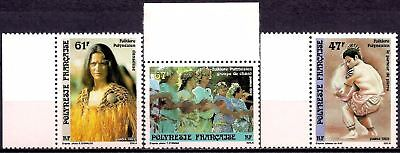 French Polynesia 1989 Festivals Folklore Song Singing Sports Weightlifting MNH
