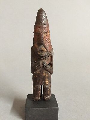 Ancient Peru Inca, Chancay wood figure of a man 1200-1400 AD