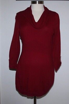 Oh Baby by Motherhood, Size M, 3/4 Sleeve, Dark Red Sweater, Fall, Cowl Neck, Ma