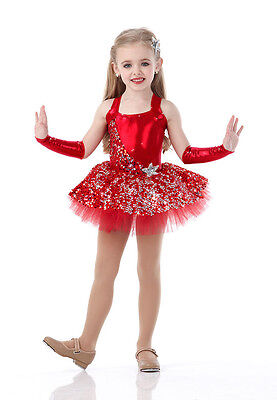 Swing On A Star Dance Costume Red Ballet Tutu and Headpiece Tap Dress Christmas